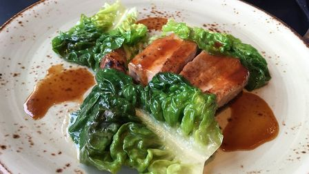 Pork belly with lettuce and heritage carrot Picture: Archant