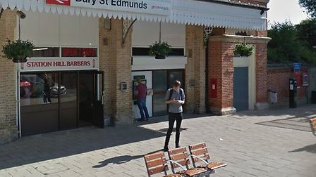 A man was robbed shortly after using the cashpoint at Bury St Edmunds train station Picture: GOOGLE
