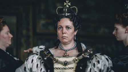 """Olivia Colman in a scene from the film """"The Favourite."""" On Tuesday, Jan. 22, 2019, Colman was nomina"""
