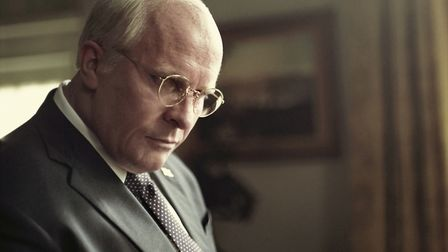 """Christian Bale portrays Dick Cheney in a scene from """"Vice."""" On Tuesday, Jan. 22, 2019, Bale was nomi"""