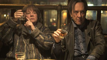 """Melissa McCarthy and Richard E. Grant in a scene from """"Can You Ever Forgive Me?"""" On Tuesday, Jan. 22"""