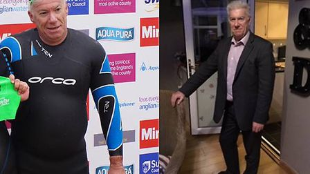 Roger Bailey before and after his weight loss Picture: SLIMMING WORLD