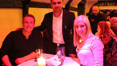 Owner Jay Ali with diners at the fundraising evening for Priory School Picture: SPICE LOUNGE
