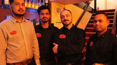 Staff at Spice Lounge in Mildenhall Picture: SPICE LOUNGE