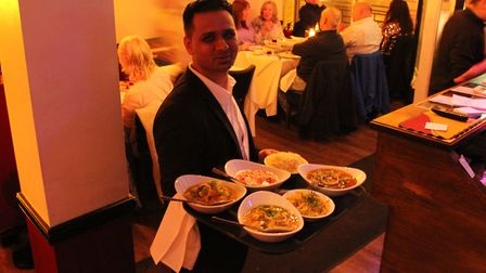 Owner Jay Ali at the fundraising night for Priory School Picture: SPICE LOUNGE