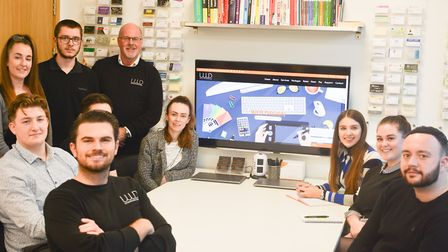 Danny Nevill and the team at Universal Web Design, at the Knowledge Gateway at Essex University Pic
