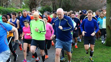 Runners set off at the start of last Saturday's Harrow parkrun. Picture: MIKE LEPPS/HARROW PARKRUN F