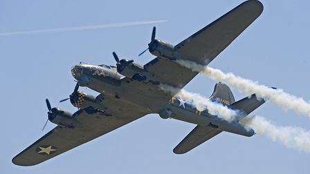 Flying Fortress Sally B at the Jubilee Air Show Duxford in 2012 Picture: STEVE BROOKS/IWM