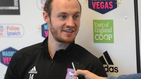 Will Keane speaks to media ahead of Sheffield Wednesday's visit. Picture: ROSS HALLS