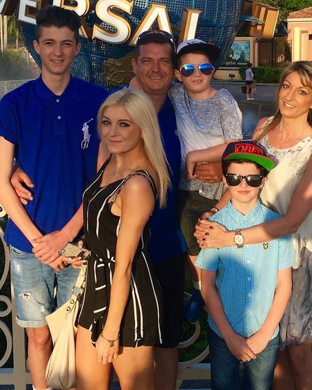 Lauren Danks with her mum Claire, father Robert, and brothers Kieran, Bobby and Jayden Picture: SUBM