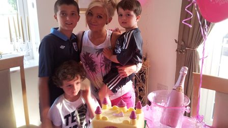 Lauren Danks with her brothers Kieran, Bobby and Jayden Picture: SUBMITTED