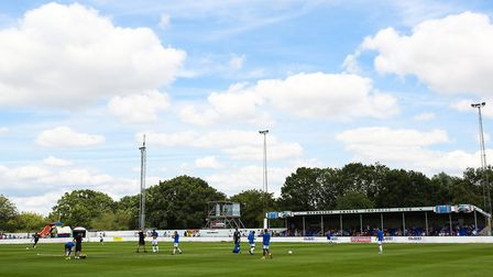 Scraley Road looks a picture, before Heybridge Swifts' annual pre-season match against Colchester Un