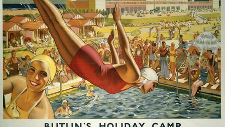 Railway posters were a feature of station billboards. Image: National Rail Museum