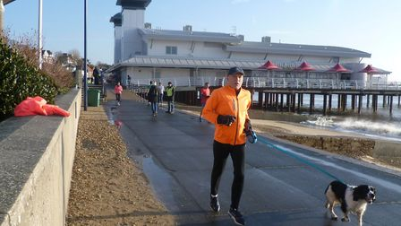 Dogs as well as runners enjoy taking part in the Felixstowe parkrun, which held its 43rd event on Sa
