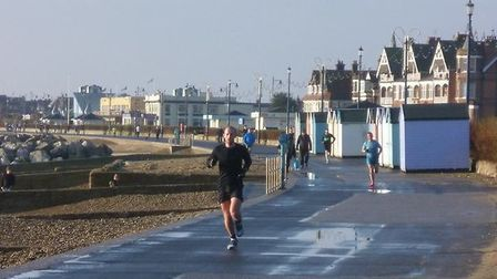 The leading runners at Saturday's Felixstowe parkrun, which attracted a total of 136 runners, jogger