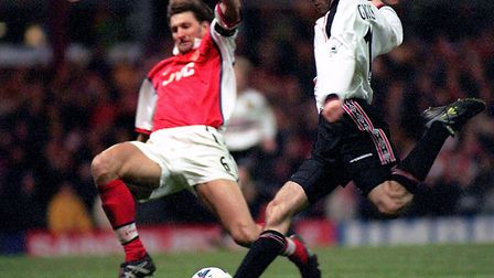 Ryan Giggs scores Manchester United's extra time winner, in the FA Cup semi-final replay against Ars
