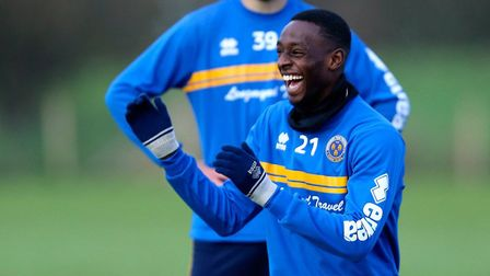 Winger Abo Eisa, who signed on loan for the U's from Shrewsbury Town on Tuesday. Picture: JAMES BAYL