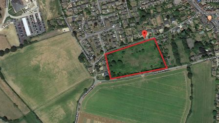 The application site for 45 homes in Woolpit. Picture: GOOGLE MAPS