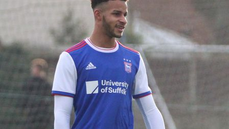 Barry Cotter in action for Ipswich Town U23s Picture: ROSS HALLS