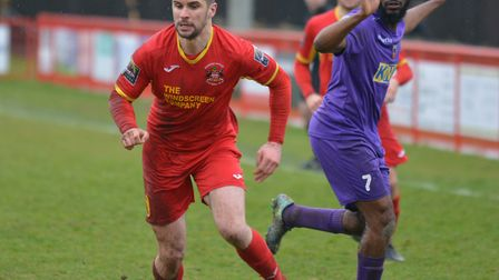 Jamie Griffiths, who scored an injury-time winner against Biggleswade Town in midweek and could star