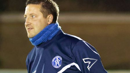 Leiston boss Stuart Boardley, felt his side played well against Hitchin despite the defeat. Photo: P