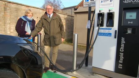 Councillor Peter Stevens, Cabinet Member for Operations at St Edmundsbury Borough Council, with coun