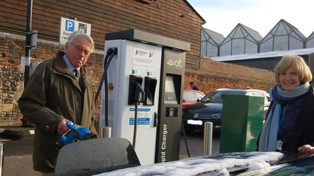The new Rapid Charger for electric vehicles is in the School Yard East car park in Bury St Edmunds P