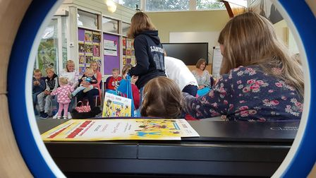 Reading challenge at Aldeburgh library. Picture: RACHEL EDGE