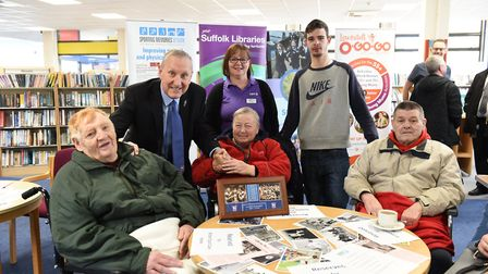 Ipswich Town legend Terry Butcher at a Sporting Memories session at Lowestoft Library last year. Pic