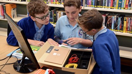 Thurston Primary School visited their local library to experience a Digital Roadshow from Suffolk