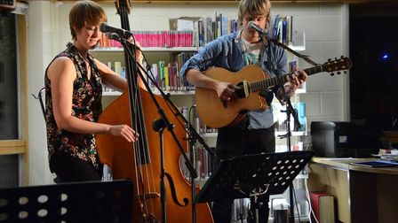 Honey and the Bear performing a music gig at Thurston Library. Picture: Friends of Thurston Library
