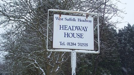 Sign of the times: Visitors knew they'd found the old Headway House in Laundry Lane, Bury St Edmunds