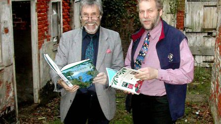 Ezra Leverett, left, and Richard Nichols, at the former Hemp Works in Halesworth in 2004. There were