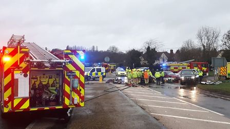 The scene of the crash on the A134. Picture: NSRAPT