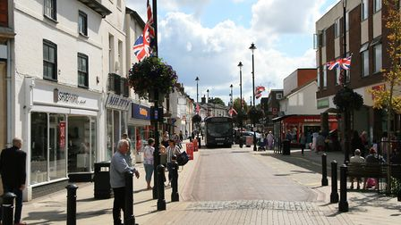 Ipswich Street in Stowmarket town centre Picture: MARK LANGFORD