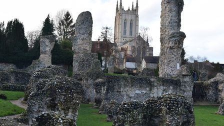 The abbey ruins in Bury St Edmunds Picture: ANDREW MUTIMER