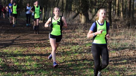 Runners from hosts Stowmarket Striders in action during the recent Suffolk Winter League meeting at