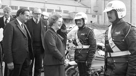 Prime Minister Margaret Thatcher during a visit to Bury St Edmunds in July 1983. Picture: ARCHANT