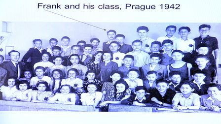 Holocaust survivor Frank and his classmates in Prague, 1942 Picture: ARCHANT/SUPPLIED BY FRANK BR