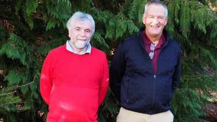 FLEMPTON WINNERS: David Roope (left) and Tim Daniels of Haverhill who won the Suffolk Winter Allianc
