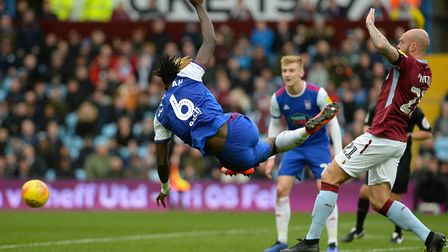 Trevoh Chalobah's first half acrobatic volley at Villa Park Picture Pagepix