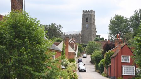 The village of Kersey in the Babergh area, which has been named as one of the top 30 districts to li