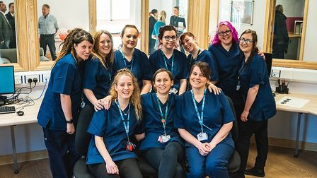 Some of the team at the Kingfisher Mother and Baby Unit at Hellesdon Hospital, which opened today.