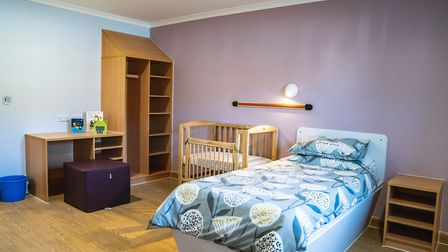 New Kingfisher mother and baby unit opens at Hellesdon Hospital, Norwich - bedroom. Picture: NSFT