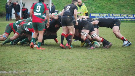 Colchester's scrum was key in their win at Luton. Picture: MAGGIE WHITEMAN