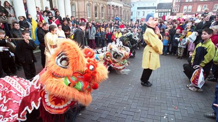 Celebrations of Chinese New Year on the Cornhill last year. Picture: ARCHANT