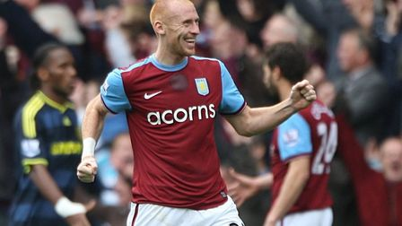 Ipswich Town defender James Collins spent three seasons at Aston Villa (09-12) and almost rerurned t