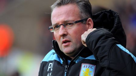 Paul Lambert oversaw consecutive Premier League finishes of 15th when in charge of Aston Villa. Phot