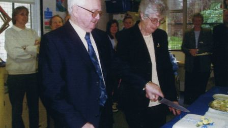 Years of devoted service to the cause. Stella and Bill Jackaman retire from Headway West Suffolk bef