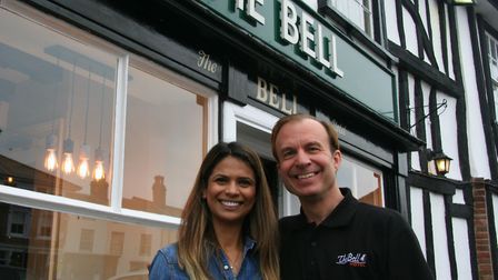 Daniel Esplen and Zainab Khan, who run the Bell Hotel in Clare, have received an award for their bee